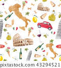 Watercolor italian pattern 43294521