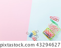 paper clips on white background 43294627