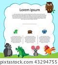 animals background vector design 43294755