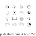 Business icon set isolated 43296251
