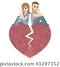 Angry Divorce Couple Heart 43297352
