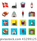 Denmark, history, restaurant, and other web icon in cartoon,flat style.Sandwich, food, bread, icons 43299125