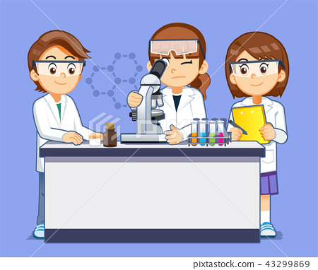 Science experiment of microscope by kids student.  43299869