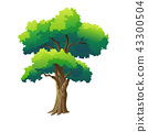 illustration tree for cartoon 43300504