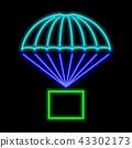 neon, icon, parachute 43302173