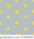 Floral seamless background pattern 43302805