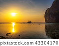Sunset at the Koh Phi Phi island with a ship in Thailand 43304170