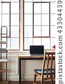 노트북, 테이블, 의자 43304439