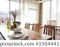창문, 창, 식탁 43304441
