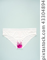 Woman white panties with glitter on pastel minimal 43304894