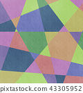 Analog style colorful geometric pattern background · BG square · square 43305952