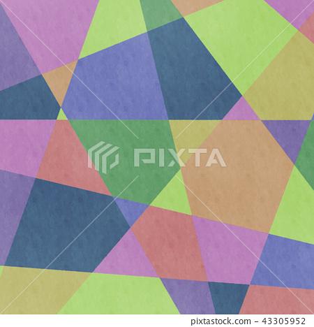 模擬風格彩色幾何圖案背景·BG廣場·廣場 43305952