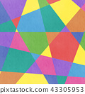 Analog style colorful geometric pattern background · BG square · square 43305953