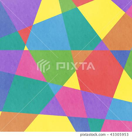 模擬風格彩色幾何圖案背景·BG廣場·廣場 43305953