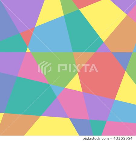 豐富多彩的幾何圖案背景·BG廣場·方形矢量素材 43305954