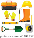 vector illustration set icons building tools 43306252
