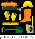vector illustration set icons building tools 43306253