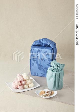 유과,보자기,선물 43306889
