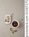곶감, 음료, 잎 43307275