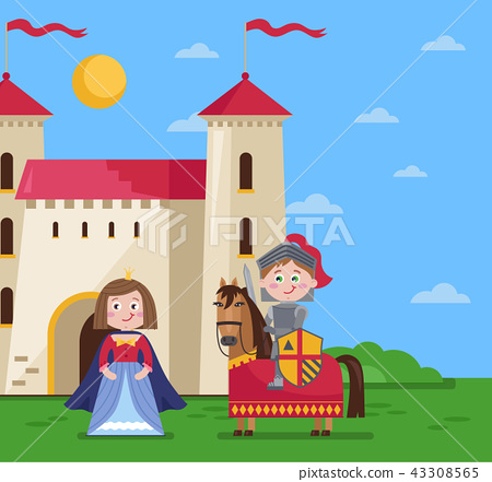 Fairytale poster in cartoon style 43308565