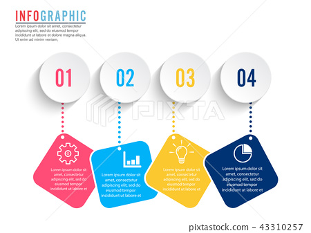 Infographic design vector and marketing. 43310257