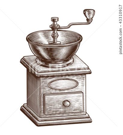 Engraved coffee grinder 43310917