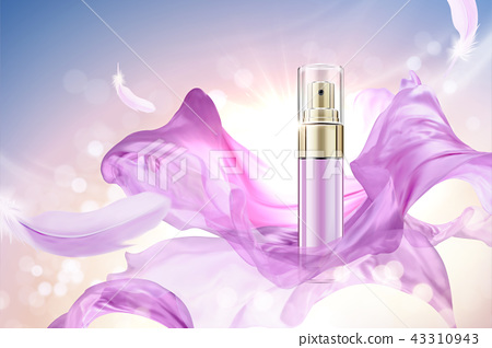 Skincare spray bottle with chiffon 43310943