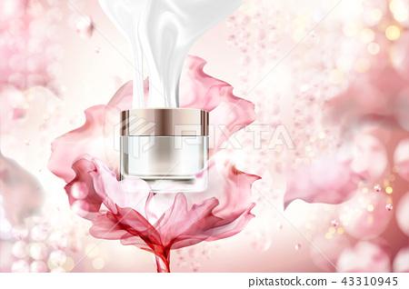 Blank cream jar with chiffon 43310945