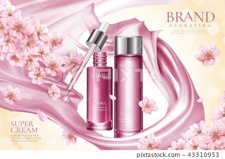 Sakura skincare product ads 43310953