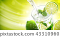Liquid pouring into mojito 43310960