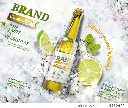 Refreshing mojito ads 43310962