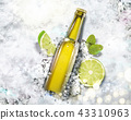 Beverage on crushed ice background 43310963