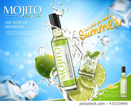 Refreshing mojito ads 43310966
