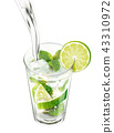 Liquid pouring into mojito 43310972
