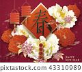 Happy Chinese new year 43310989