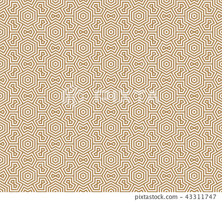 Seamless pattern based on Japanese ornament Kumiko 43311747