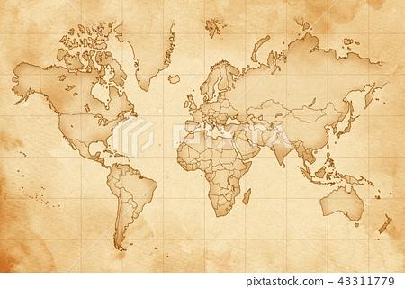 手拉的地圖老地圖紋理 43311779