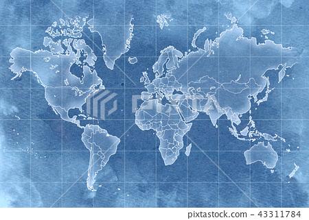 手拉的地圖老地圖紋理 43311784