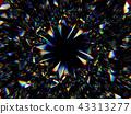 Gemstone structure extreme closeup kaleidoscope 43313277
