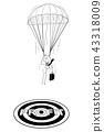 businessman, profit, parachute 43318009