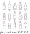 bottle, alcohol, icon 43321391