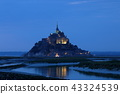 The Mont Saint Michel in Normandy at Night 43324539