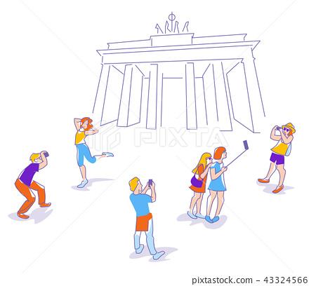 travelers in Berlin 43324566