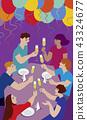 Friends having a toast 43324677