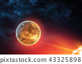 Celestial digital art Venus planet in outer space 43325898