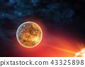 Celestial digital art Venus planet in outer space 43325898