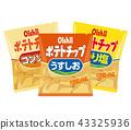 potato chips, snack, sweet 43325936