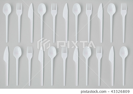 Fork, Spoons and Knives Flat Lay  43326809