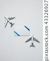 모형비행기, 리본, 카드 43326927