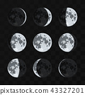 Moon phases vector set 43327201